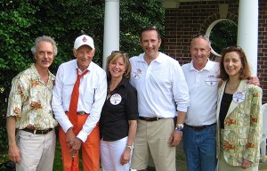 From left: Jeff Choney, Bill (William A.) Dippel '50, Jeddie Dippel Shaw, Tom Dippel '93, Bill (William B.) Dippel, and Pam Dippel Choney '78 at the elder Bill's 60th Reunion