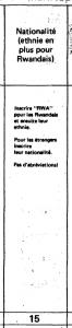 1978 Rwandan Census - Ethnicity