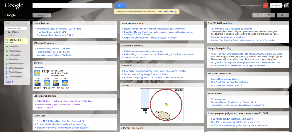 my current iGoogle page