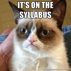 syllabus grumpy cat