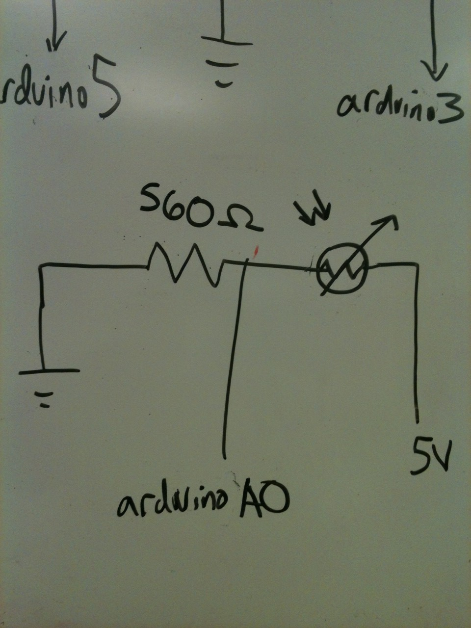 The photocell input circuit