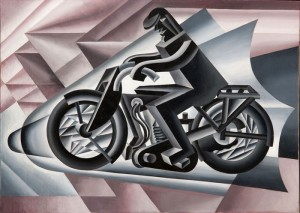 Fortunato Depero, Motociclista, solido in velocità (Biker solid at speed), 1923. Photo: 2013 Artist Rights Society (ARS), New York/SIAE, Rome