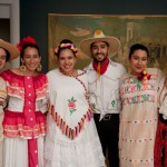 Ballet Folklórico at the PUAM. Students (from left to right): David Munguía Gomez '14, Lauren Castro '13, Grecia Rivas '13, Ubaldo Escalante '13, Aseneth Garza '13, Julie Sanchez '14
