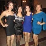 From left to right: Fabiola Piña '15, Silvana Alberti '14, Jenesis Fonseca '14, Grecia Rivas '13