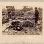 Alexander Gardner, A Contrast! Federal Buried, Rebel Unburied Where They Fell at the Battle of Antietam, 1862.