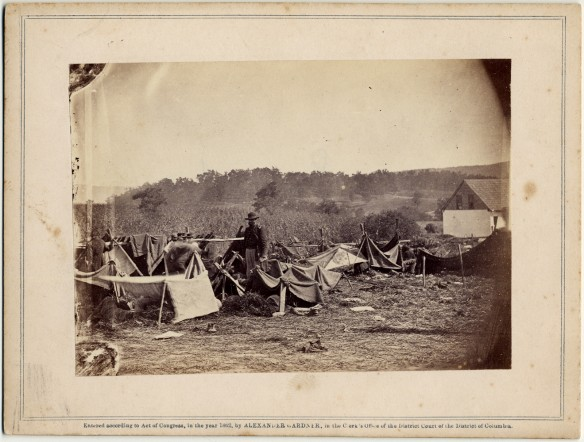 Alexander Gardner, Dr. A Hurd, 14th Indiana Volunteers, Attending to the Confederate wounded after the Battle of Antietam, 1862.
