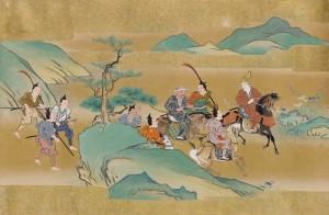 Japanese scroll detail for blogpost