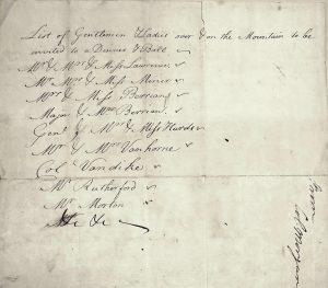 Morgan invitation list