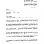 Letter from Rebun Kayo, Chairman, Association of Hiroshima University for Sending Atomic-Bombed Roof Tiles, 2012, Page 1