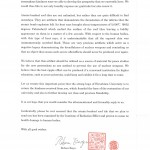 Letter from Rebun Kayo, Chairman, Association of Hiroshima University for Sending Atomic-Bombed Roof Tiles, 2012, Page 2
