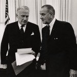 President Johnson and George Ball