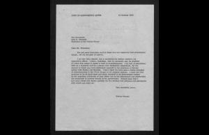 Typescript of George Kennan's handwritten note to John F. Kennedy, October 22, 1963