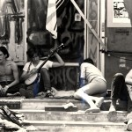 Sit in at IDA with graffitti, 1970
