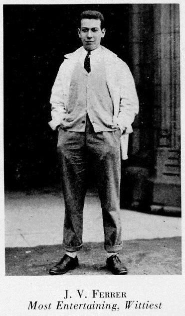 Ferrer_Jose_Most_Entertaining_1933_Nassau_Herald