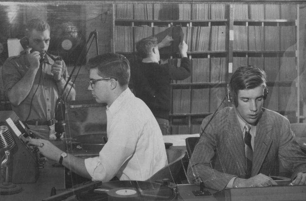 students in WPRU studio