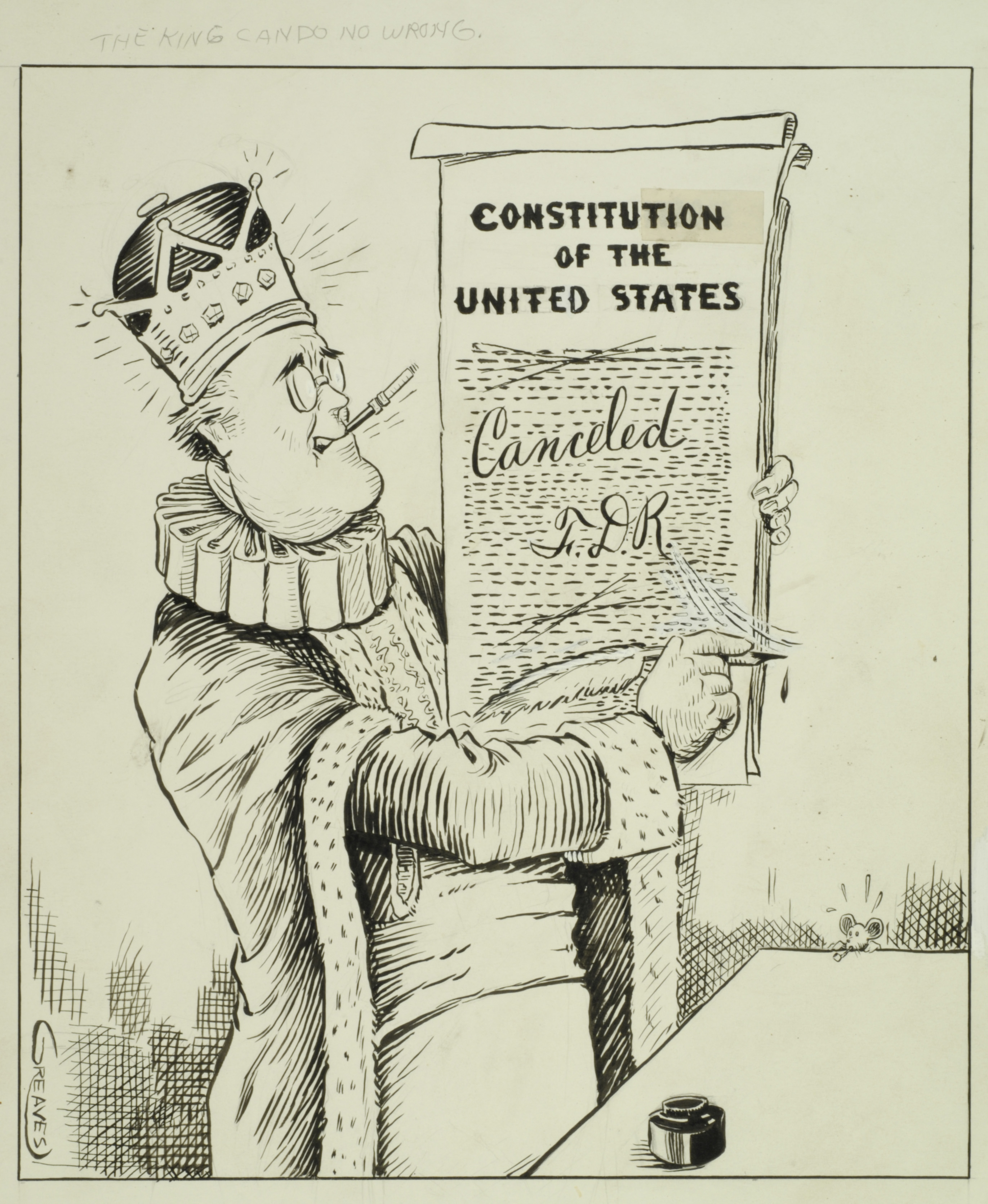 political cartoon exhibition reveals common themes of american