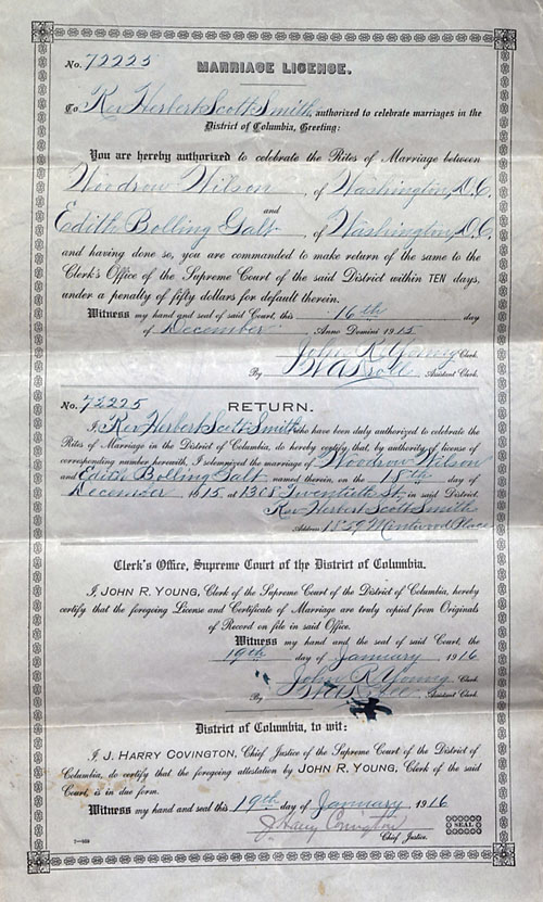 Wilson marriage license