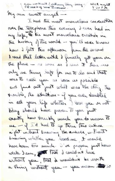 peter page1942 letter page 1