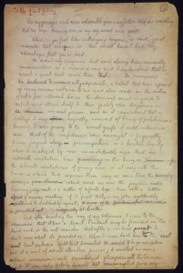 F. Scott Fitzgerald. Great Gatsby autograph manuscript, page one.  Not to be reproduced without permission of the Princeton University Library.