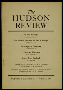 Hudson Review.  Volume 1, Number 1, Spring