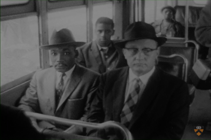 Martin Luther King and ___ on bus.