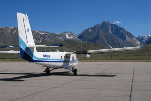 NOAA scientists used a lidar aboard this Twin Otter aircraft to study the movement of ozone from the stratosphere to the lower atmosphere above California in 2010. Credit: NOAA