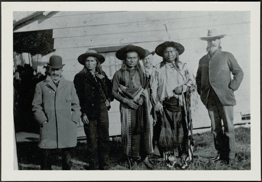 """Bill Cody, Chief Joseph, The Chief's Half Brother, the Interperater [sic], 1897."""