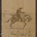 Cowboy in Buffalo Bill's Wild West, ca. 1886.