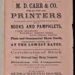 M. D. Carr & Co., Practical Printers.