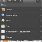 WPtouch Pro popup menu with search