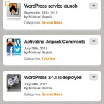 WPtouch Pro with thumbnail images