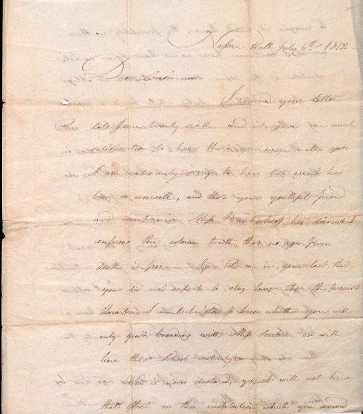 Walter Kirkpatrick letter, page 1