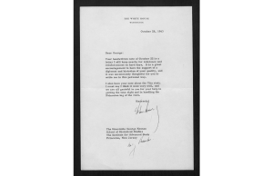 John F. Kennedy letter to George Kennan, October 28, 1963