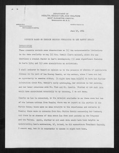 First page of Psychiatric Report on L.H. Oswald, 1964: http://findingaids.princeton.edu/collections/MC019/c01581