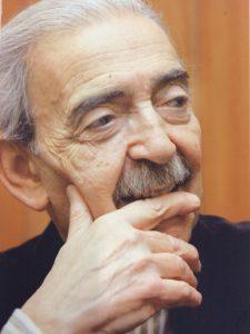 Portrait of Argentine poet, translator, journalist, and human rights activist Juan Gelman (1930-2014) from the Juan Gelman Papers (C1511).