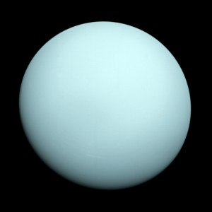 Uranus as viewed by Voyager 2 in 1986 (NASA/JPL-Caltech)