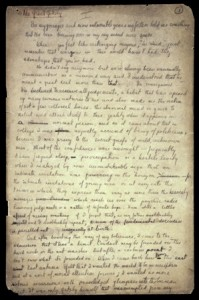Autograph manuscript of The Great Gatsby, first page. Not to be reproduced without permission of the Princeton University Library.