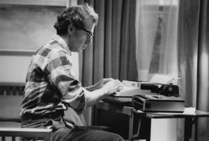 Woody Allen typing